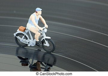 model people in cycle race - Model people having a cycle...