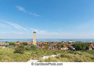 Village West-Terschelling in the Netherlands - Dutch village...