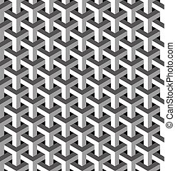 Abstract isometric 3d pattern background