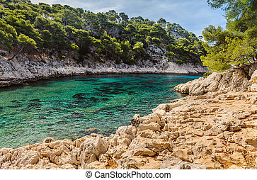 Calanque between Marseille and Cassis, France Cote D Azur