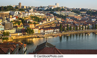 top view of Douro river - Douro river, top view of the side...