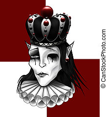 Chess king with crown illustration.