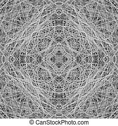 Seamless abstract thorn pattern