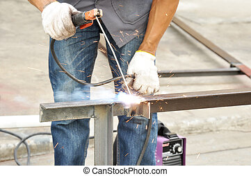Arc welding (or stick welding)