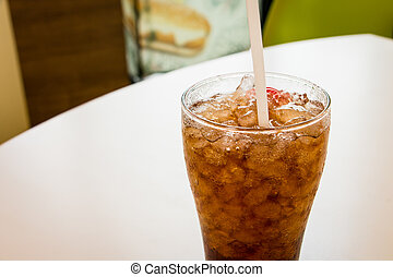 Cola with straw - Glass of co