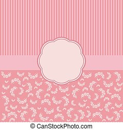 Vintage vector card templates Elegant floral background