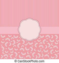 Vintage vector card templates Elegant floral background