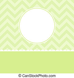 Vector Vintage Invitation card with background zigzag, -...