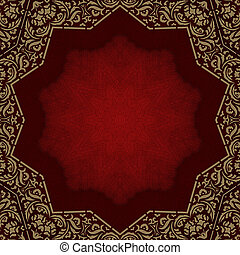 Photo album -red cover with gold ornate