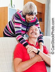 Loving  mature couple together