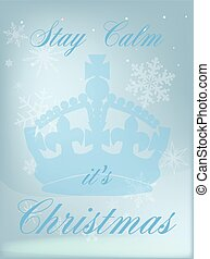 Stay Calm Its Christmas - A pink abstract background