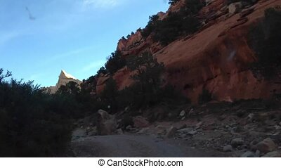 Off roading Time-lapse Upper Muley Twist Canyon - Quick...