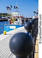 Hafen von Stolpmünde, Polen - Fishing port of Ustka, Poland