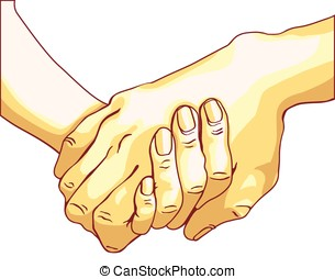 Handshake of two people