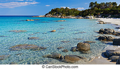 Sardinia. turquoise sea water and beach - Sardinia. Scenery...