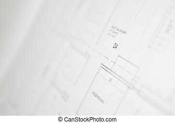 cad paper drawing design architecture concept