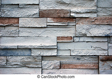 Stone Wall Background - A nice clean image of white stone...
