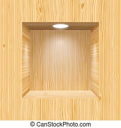 Niche for presentations - Wooden niche for presentations...