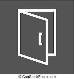 Open Door - Door, entrance, exit icon vector image. Can also...