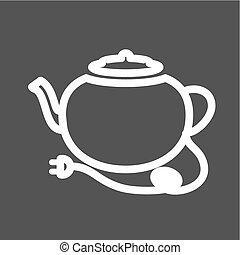 Tea kettle - Kettle, tea, teapot, kitchenware icon vector...