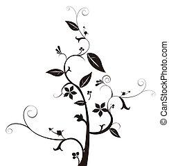 flower pattern - drawing of black flower pattern in a white...