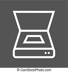 Scanner, document, scan icon vector image. Can also be used...