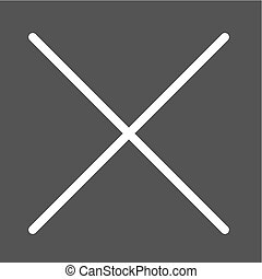 Cancel, cross, close icon vector image. Can also be used for...