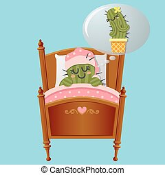 cactus dreaming about lover - sleeping cactus dreaming about...