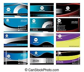 Elegant business card set