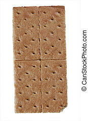 Graham cracker - A standard graham cracker isolated on white