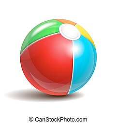 Beach ball isolated on a white background. Symbol of summer...