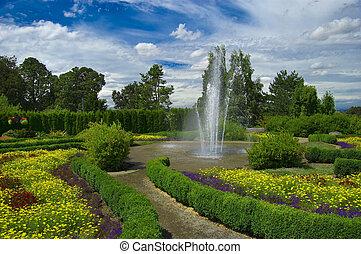 Garden with fountain