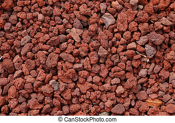 Red Volcanic Rock Texture - A bunch of small red volcanic...