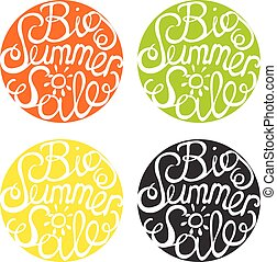 Lettering element in four colors Big summer sale