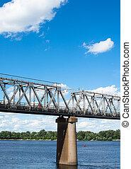 一, ......的, the, 碼頭, 支持, the, 鐵路, bridge, ,