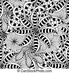 Ornament Pattern - Seamless Abstract Tribal Pattern Vector...