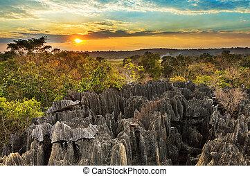 Petit Tsingy sunset excursion - Beautiful sunset view on the...