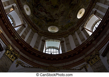 Karlskirche - detail of the beautiful interior of the...
