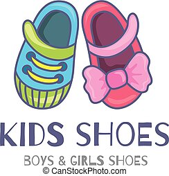 Kids shoes - logo or symbol of children's shoes