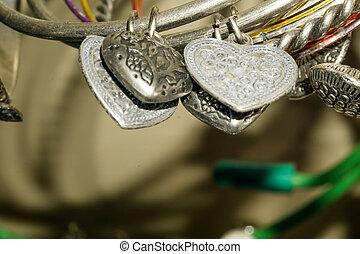 Bijouterie - Close up of various bijouterie, jewellery...