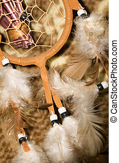 Dream Catcher Macro - Background with dream catcher with...