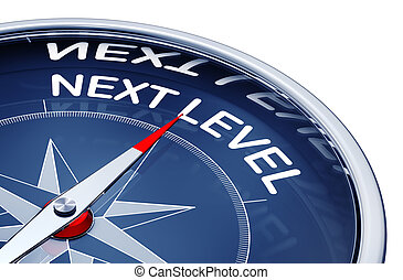 next level - compass with a next level icon