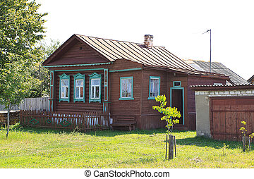 old rural house in Russia - nature of the Golden Ring of...