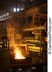 metallurgical furnace - Modern metallurgical plant in...
