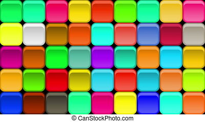 Buttons Background, Seamless Loop - Fullhd 1920x1080...