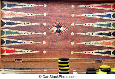 backgammon - Picture of an old backgammon plate