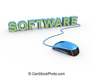 3d mouse attached to word text software
