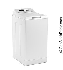 Top loading washing machine on white background