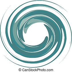 Whirlpool background - Isolated vortex on...