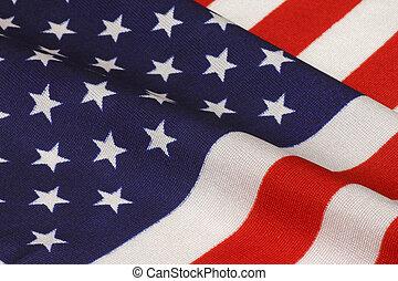 United States flag - close up of waved United States flag